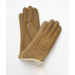 Mouton Gloves in Camel