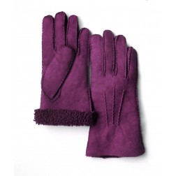 Mouton Gloves in Purple