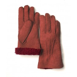 Mouton Gloves in Orange