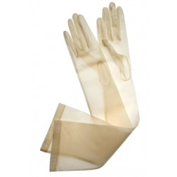 Organza Gloves in Beige