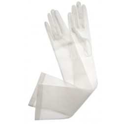 Organza Gloves in White