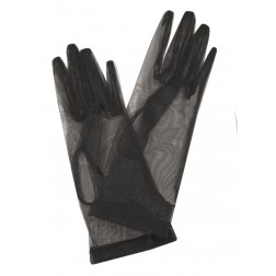 Tulle Gloves in Black