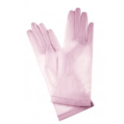 Tulle Gloves in Pink