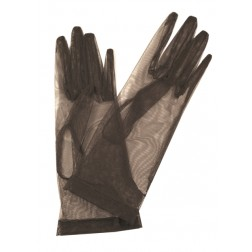 Tulle Gloves in Tobacco