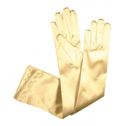 Special Satin Gloves in Beige