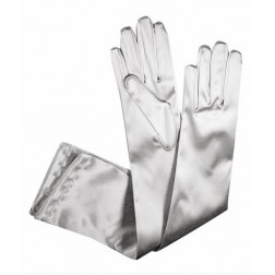 Special Satin Gloves in Light Grey