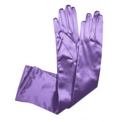 Special Satin Gloves in Lilac