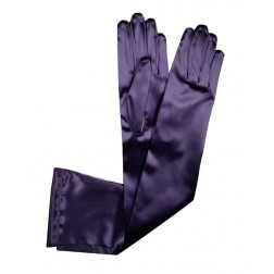 Special Satin Gloves in Dark Purple