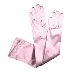 Special Satin Gloves in Pink