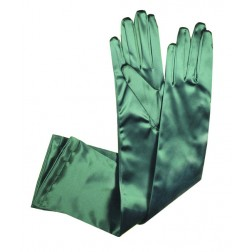 Special Satin Gloves in Green