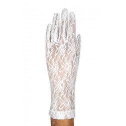 Lace Gloves in White