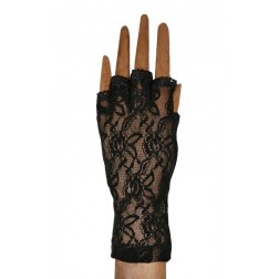 Lace Fingerless in Black