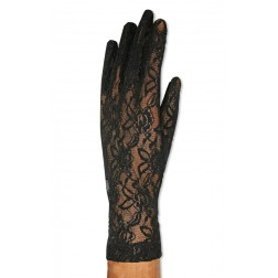 Lace Gloves in Black