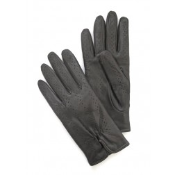Perforated Gloves in Black