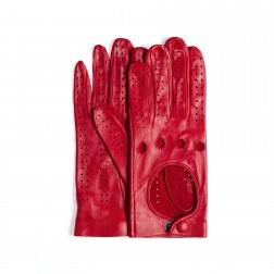 Leather Driving Gloves in red