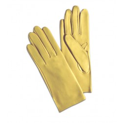 Leather Gloves in Light Yellow