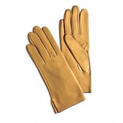 Leather Gloves in Pumpkin