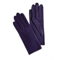 Leather Gloves in Purple