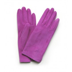Suede Gloves in Orchid Pink