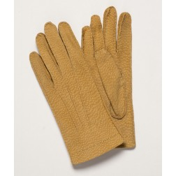 Carpincho Leather Gloves in Camel