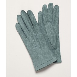 Carpincho Leather Gloves in Blue