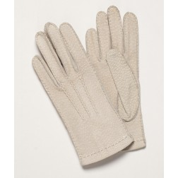 Carpincho Leather Gloves Light Beige
