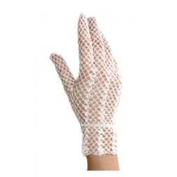 Crochet Gloves Off White