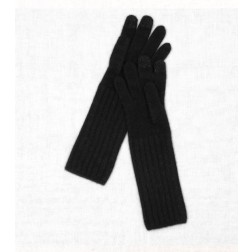 Wool Cashmere Gloves in Black