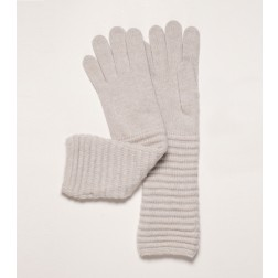 Wool Cashmere Gloves in Off White