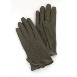 Mini Leather Gloves in Taupe