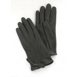 Mini Leather Gloves in Black