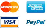 We accept Visa, PayPal and MasterCard